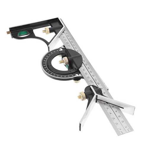 300mm Stainless Steel Multi-Functional Protractor Combination Square Angle Ruler New