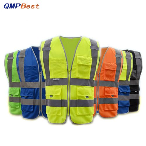 2021 Upgrades Traffic Visibility Reflective Vest Working Clothes Motorcycle Cycling Sports Outdoor Reflective Safety Clothing