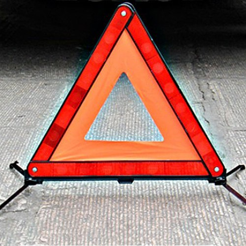 Safety First Aid Tripod Triangle Warning Reflective Roadside Sign Vehicles Breakdown Packing Sign Foldable Wind Tested With Case
