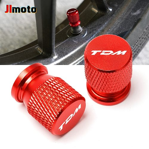 With LOGO TDM For YAMAHA TDM850 TDM900 TDM 850 900 All Years CNC Aluminum Tyre Valve Air Port Cover Cap Motorcycle Accessories