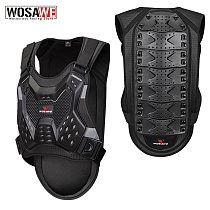 WOSAWE Motorcycle Armor Vest Adult Chest Back Protection Rider Motocross Off Road Spine Support Body Protective Gear