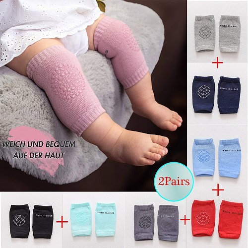 2pairs Kids Baby Safety Sport Crawling Elbow Cushion Knee Pads Protective Gear Socks Newborn Boy Toddler Socks Baby Accessories