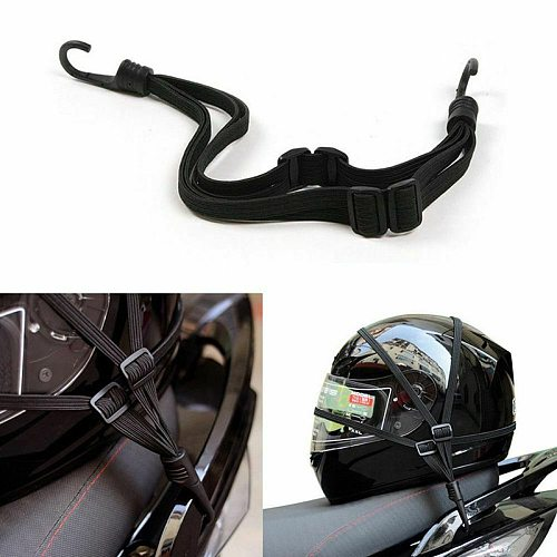Motorcycle Helmet Strap Retractable Luggage Elastic Rope Strap Fuel Tank Strap Cord Bandage Strapping Tape Net Belt Hooks