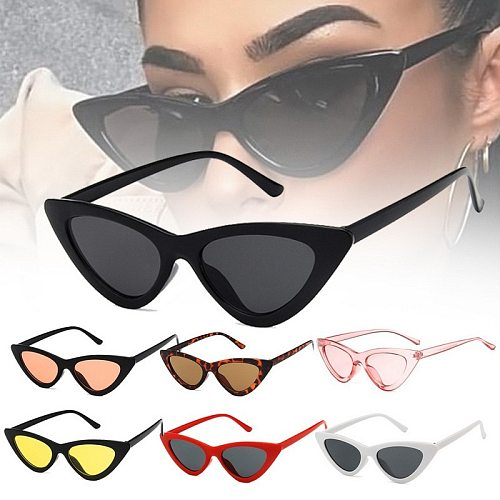 Free Shipping Fashion Women Cat Eye Glasses Ladies Vintage Retro Small Female Cute Trending Sunglasses UV Shade Zonnebril Dames