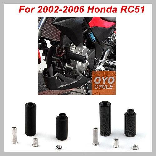 No Cut Frame Slider For 2002-2006 Honda RC51 RC 51 2002 2003 2004 2005 2006 Crash Falling Protection Motorcycle part