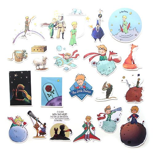 23Pcs Little Prince Paster Collection 90s Decals Scrapbooking Kids Toy DIY Phone Motorcycle Waterproof Stickers