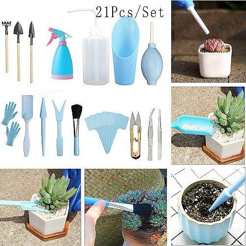New Home Gardening Tool Set Balcony Home-Grown Mini Digging Suits 21pcs Shovel Rake Garden Tools Combination Drop Shipping