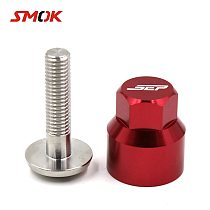 SMOK 8MM Motorcycle Accessories Fairing Body Spring Bolts Nuts Spire Speed Fastener Clips Anti-theft Screws Bolt For Scooters