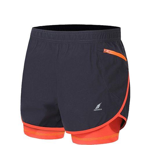2 in 1 Men's Marathon Running Shorts Gym Trunks M-4XL Man Gym Short Pants Short Sport Cycling Shorts with Longer Liner Plus Size
