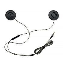 TiOODRE 3.5mm Jack Motorcycle Helmet Headset Wired Earphones Music Headphones Wire-Controlled Helmet Headset Call Two Speakers