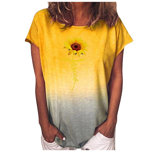 Gradient Floral Print Blouses Women 2021 5xl Plus Size Tops Casual Shirts Summer Blouse Shirt Female Tunic Блузка Женская