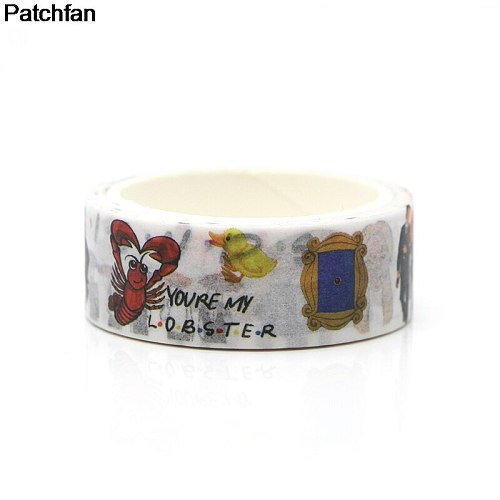 Patchfan Friends tv show funny DIY Scrapbooking Sticky Adhesive washi Paper Tape Printed Patterns stickers decals A1957