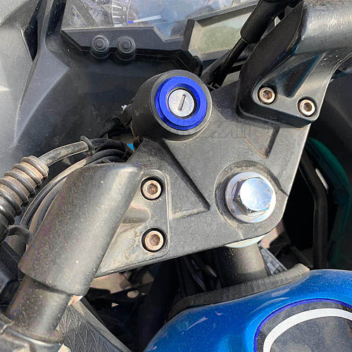 R3 Motorcycle Ignition Switch Cover Ring CNC Aluminum Accessories for Yamaha YZF R3 2013 2014 2015 2016 2017 2018 2019