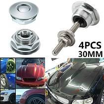 4Pcs Universal 30mm/1.2  Push Button Billet Hood Pins Lock Clip Kit Engine Bonnets Lock Aluminum Car Quick Engine Bonnet Latch