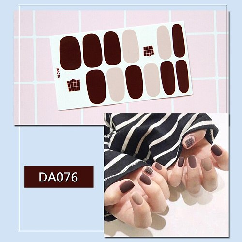 14 Sheets/set Nail Decal And Sticker  Oil Film Adhesive Nail Art Supplies DIY Slider For Manicure Exquisite Nail Decoration Tool