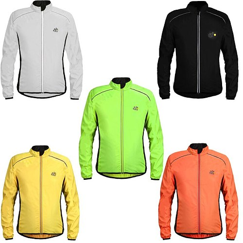 Motorcycle Sun Protection Jackets Breathable Reflective Waterproof Cycling Jackets Long Sleeve Windproof Outdoor Sports Raincoat