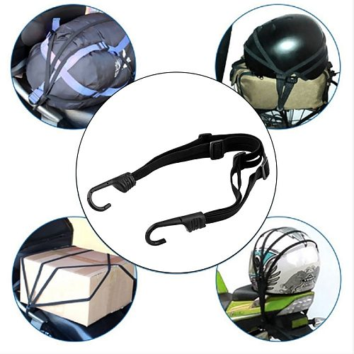 Motorcycle Luggage Mesh Strap Fixed Elastic Buckle Rope Helmet Net Retractable Bandage Protective Gear Motorcycle Accessories