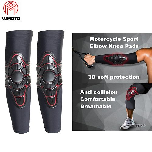 Ice Silk Motorcycle Elbow Knee Pads MTB DH ATV Motocross Knee Guard Protector Off-road Racing Cycling Knee Pads Elbow Protective