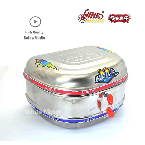 Scooter Trunk metal e scooter hard box ebikeTop Case Metal Iron Steel Helmet Tail Luggage Trunk Motorcyclefor NIU SuperSoco