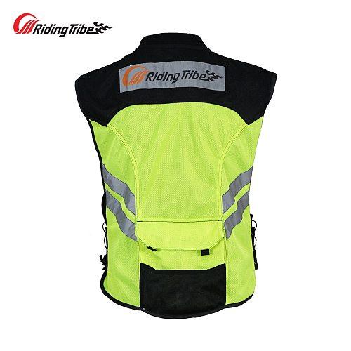 Motorcycle Jacket Reflective Vest High Visibility Night Shiny Warning Safety Coat for Traffic Work Cycling Team Uniform JK-22