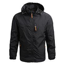 Men Waterproof Jackets Hooded Coats Male Outdoor Outwears Windbreaker Windproof 2021 Spring Autumn Jacket Fashion Clothing Coat