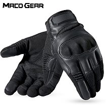 Touchscreen Leather Tactical Glove Army Cycling Military Combat Airsoft Shooting Paintball Hunting Sport Full Finger Gloves Men