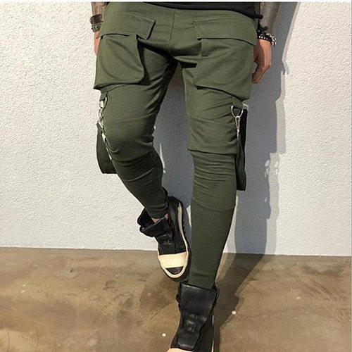 2018 Autumn new mens cotton Sweatpants  Fitness workout solid trousers male Casual fashion Pencil Pants Joggers sportswear