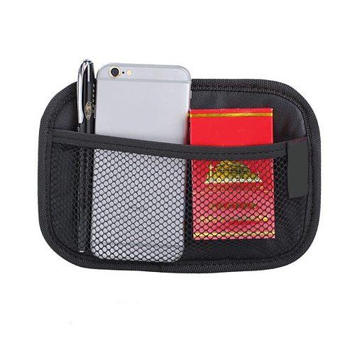 1pc Universal Car Storage Bag Brand Stick-up Mesh Net Storage Bag Phone Holder Organizer Pouch Car Hanging Trunk Net Organizer