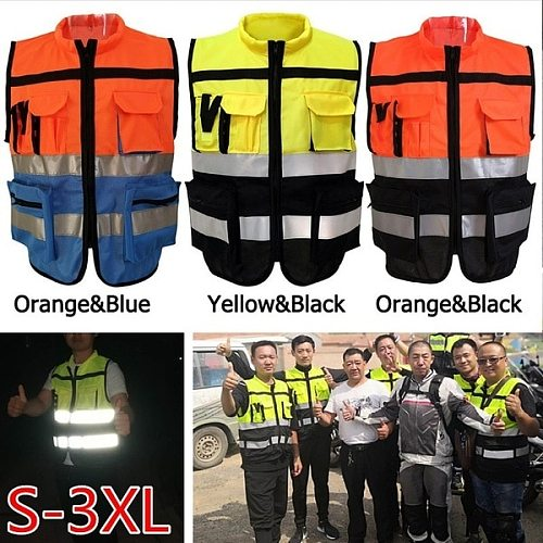 Reflective Vest Working Clothes Motorcycle Cycling Sports Outdoor Reflective Safety Clothing