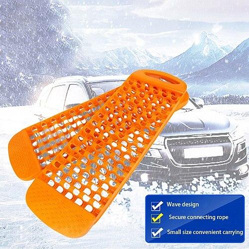 AU04 -2Pcs Car Emergency Rescue Anti-Skid Board Recovery Tracks Road Tyre Ladder Sand Mud Snow Anti-Slip Trailer Couplings
