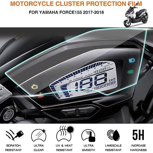 Motorcycle Cluster Scratch Protection Film Screen Protector For Yamaha Force155 2017-2018
