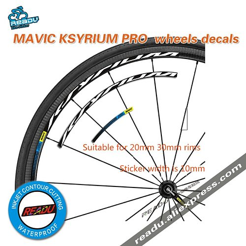 mavic KSYRIUM PRO Road Bike Wheelset stickes decals bicycle Wheel rims stickers  width is 10mm Suitable 20-30 rims for two wheel