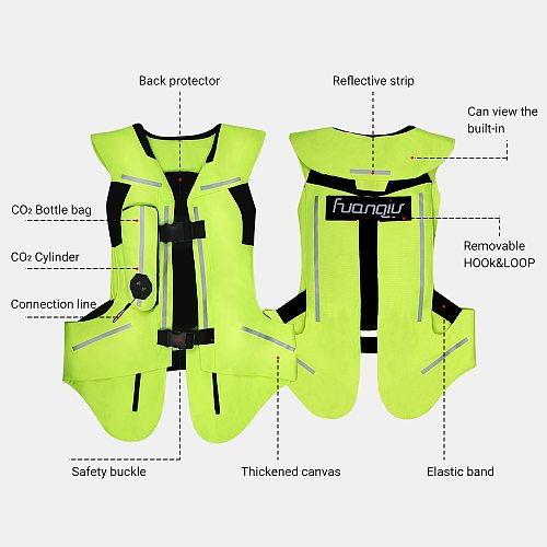 New Reflective Vest Safety Reflective Jacket Motorcycle Jacket Motorcycle Air Bag Moto Airbag Vest Motocross Racing Airbag S-3XL