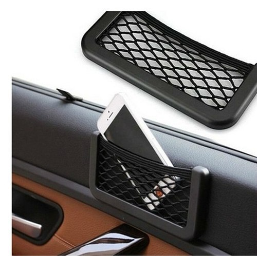 For Hyundai Elantra / Hyundai i30 / hyundai i20 2007-2012 Car Net Bag Phone Holder Storage Pocket Organizer Car Mesh Trunk Net