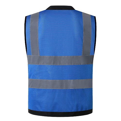 Safety Vest High Visibility Mesh Reflective Vest with Pockets for Men & Women