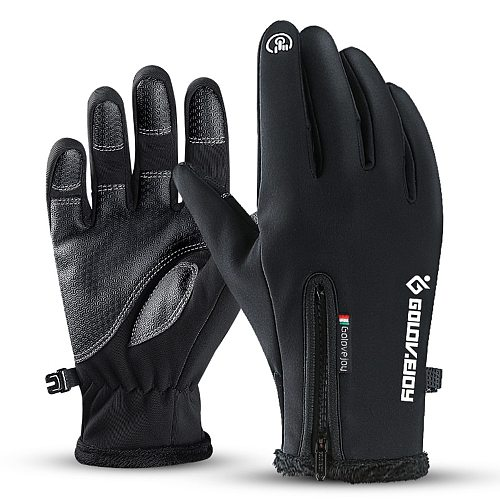 Motorcycle Gloves Moto Gloves Winter Thermal Fleece Lined Winter Water Resistant Touch Screen Non-slip Motorbike Riding Gloves