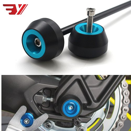 for MV agusta Stradale 800 2015-2017 CNC Aluminum Motorcycle Drop ball Shock Absorber Accessories Front Wheel Axle Protection
