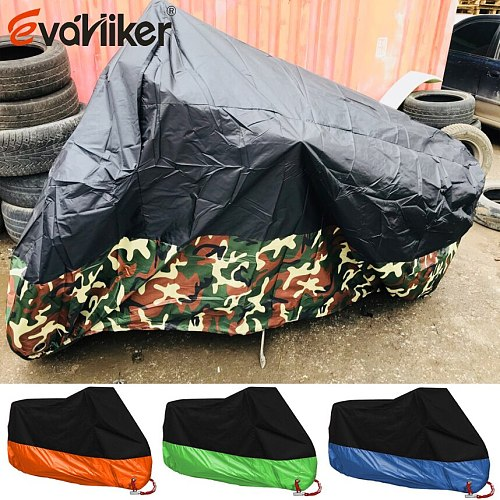 High Quality Camouflage Waterproof Dustproof UV Protective Breathable Motorcycle Motor Vehicle Cover M/L/XL/XXL/XXXL/XXXXL
