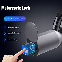 Motorcycle Lock Keyless Fingerprint Bicycle Lock With USB Charge 39.4 inch Bicycle Cable Locks for Bike Motorcycle Gate Fence