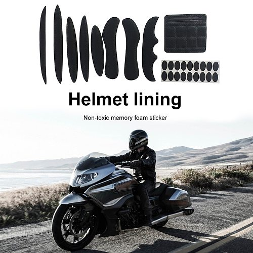 27pcs Universal Cycling Helmet Inner Pads Kit Replacement Sealed Lining Sponge for Bicycle Motorcycle Electric Vehicle