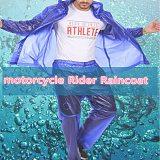 Average size PVC rain suit motorcycle Rider Raincoat scooter rain coat blue free shipping
