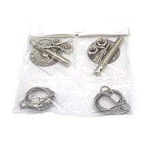 JKdreamer Universal 2pcs Aluminum Racing Car Auto Hood Pin Engine Locks Kit Car Bonnet Hood Lock 2