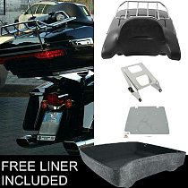 Motorcycle 10.7  Tour Pak Pack Trunk Backrest Rack For Harley Touring Road Glide 2014-Up