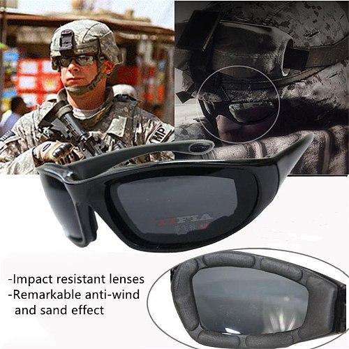 Riding Motorcycle Sunglasses Outdoor Sports Cycling Goggles Bike Black Frame Eyewear Windproof Lightproof Motorbike Men Eyewear