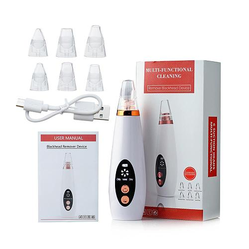 Blackhead Remover Face Pore Vacuum Skin Care Acne Pore Cleaner Pimple Removal Vacuum Suction Tools USB Rechargeable