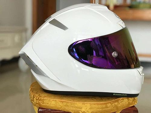 Full Face Motorcycle helmet X14 gloss white Helmet anti-fog visor Riding Motocross Racing Motobike Helmet
