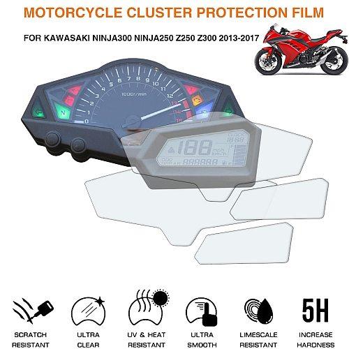 For Kawasaki NINJA 250 NINJA 300 Z250 Z300 Z 250 Z 300 2013-2017 Motorcycle Cluster Scratch Protection Film Screen Protector