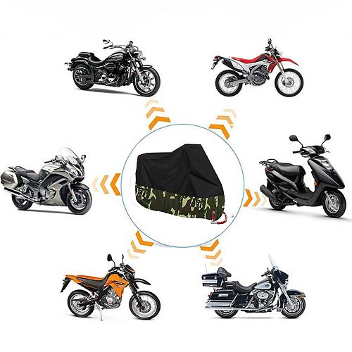 Motorcycle Cover Waterproof Outdoor M L XL XXL XXXL XXXXL Motorbike Case Funda Moto UV Protection Rain Pit Bike Covers 190T