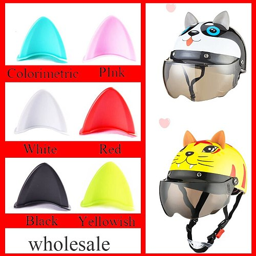 Car Motorcycle Helmet Cat Ears Stickers Motocross Full Face Off Road Helmet Decor Supplies Halloween Party Cosplay Props Styling