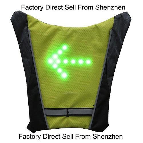 Cycling Bicycle LED Vest Wireless Safety Reflective Turn Signal Light Vest for Riding Night Guiding